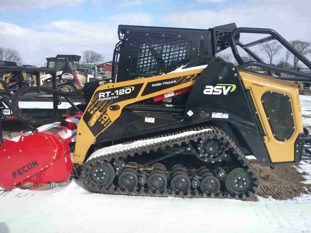 ASV RT120F with Fecon Mulching Head